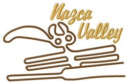 Nazca Valley Lines embroidery design