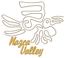 Nazca Valley Parrot Lines embroidery design