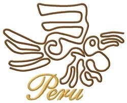 Peru Nazca Lines Parrot embroidery design