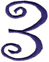 Curlz 3 embroidery design