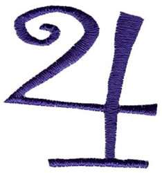 Curlz 4 embroidery design