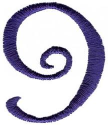 Curlz 9 embroidery design
