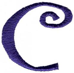 Curlz c embroidery design