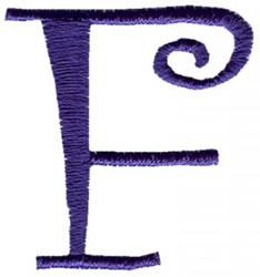Curlz F embroidery design