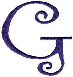 Curlz G embroidery design