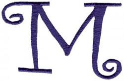 Curlz M embroidery design