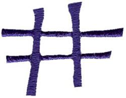 Curlz Number Sign embroidery design