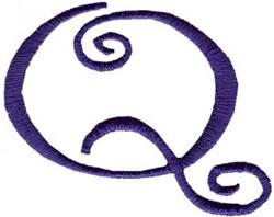 Curlz Q embroidery design