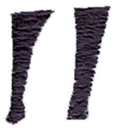 Curlz Quotation Mark embroidery design