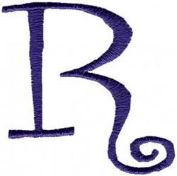 Curlz R embroidery design
