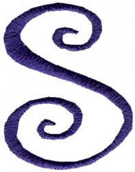 Curlz S embroidery design