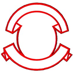 Circle and Banner embroidery design