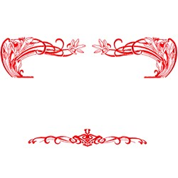 Scroll embroidery design