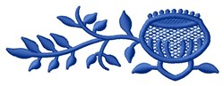Blue Flower Border embroidery design