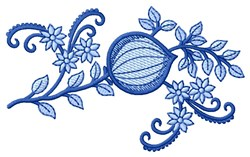 Floral in Blues embroidery design