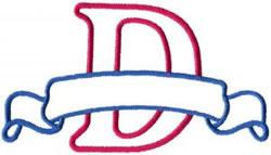 Applique Banner D embroidery design