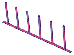 Weave Poles embroidery design