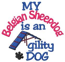 Belgian Sheepdog embroidery design