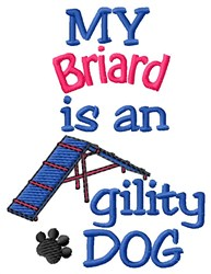 Briard Dog embroidery design