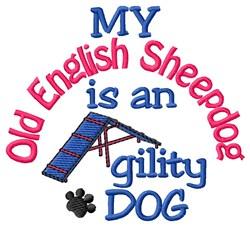 Old English Sheepdog embroidery design
