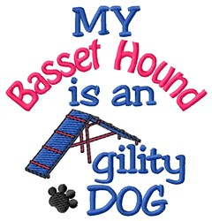 Basset Hound embroidery design