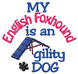 English Foxhound embroidery design