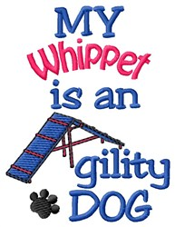 Whippet Dog embroidery design