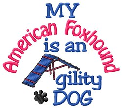 American Foxhound embroidery design