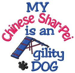 Chinese Shar-pei embroidery design