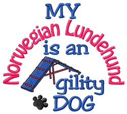 Norwegian Lundehund embroidery design