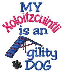 Xoloitzcuintli embroidery design