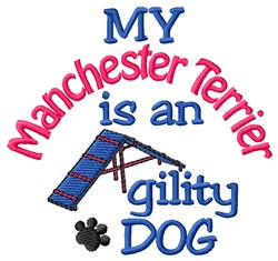 Manchester Terrier embroidery design