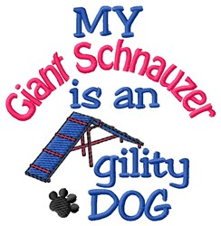 Giant Schnauzer embroidery design