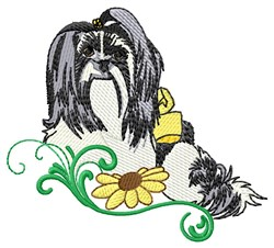 Mi-Ki Dog embroidery design