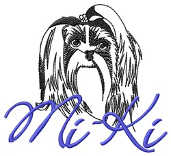 Mi-Ki Dog embroidery design