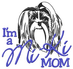 Mi-Ki Mom embroidery design