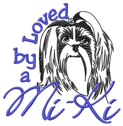 Loved by Mi-Ki embroidery design