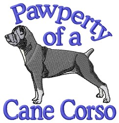 Pawperty Of Cane Corso embroidery design