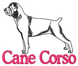 Cane Corso Outline embroidery design