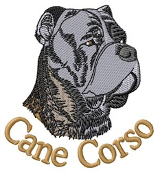 Cane Corso embroidery design