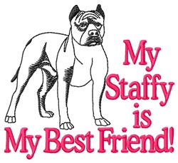 Staffy Best Friend embroidery design