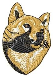 Shiba Face embroidery design