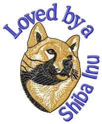 Loved Shiba Inu embroidery design