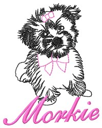 Morkie Puppy embroidery design