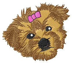 Morkie Face embroidery design