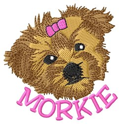 Morkie Head embroidery design