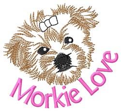 Morkie Love embroidery design