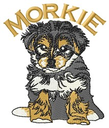 Pup Morkie embroidery design