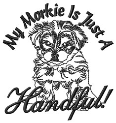 Morkie Handful embroidery design