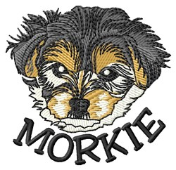 Morkie Pup embroidery design